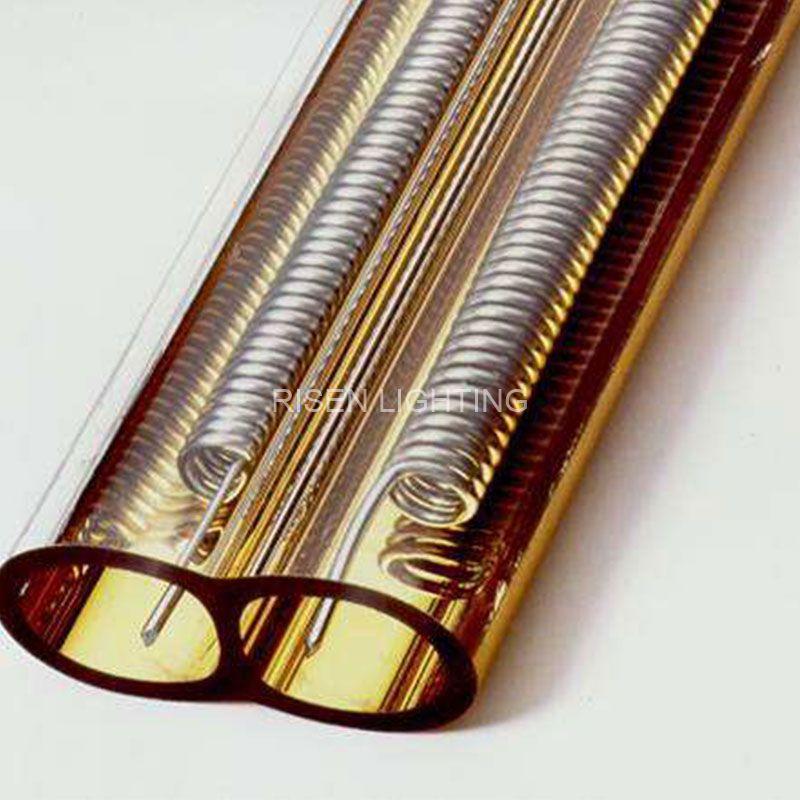 Medium Wave Gold Reflector Twin Tube Heater