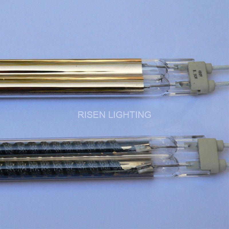 Gold Reflector Twin Tube Carbon Heat Lamp